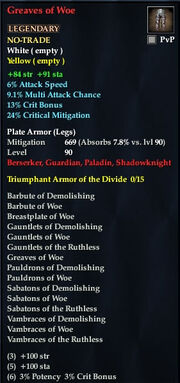 Greaves of Woe