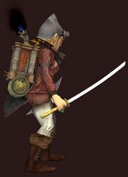Heavy Scourge Katana (Equipped)