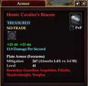 Heroic Cavalier's Bracers