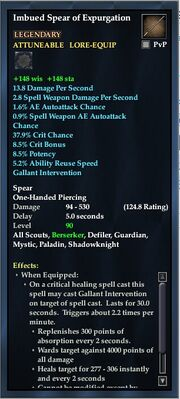 Imbued Spear of Expurgation