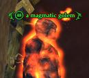 A magmatic golem