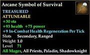 Arcane Symbol of Survival