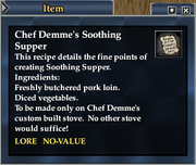 Chef Demme's Soothing Supper