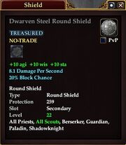 Dwarven Steel Round Shield