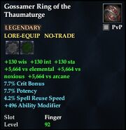Gossamer Ring of the Thaumaturge