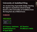 University of Andelfoof Ring