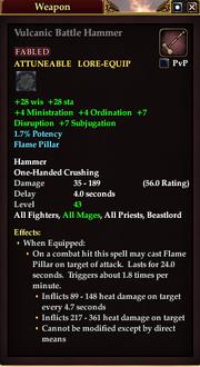 Vulcanic Battle Hammer