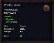 Worthy Cloak