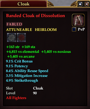 Banded Cloak of Dissolution