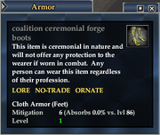 Coalition ceremonial forge boots