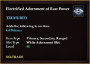 Electrified Adornment of Raw Power