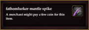 Fathomlurker mantle spike
