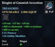 Ringlet of Gnomish Invention