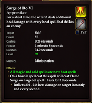 Surge of Ro VI