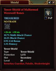 Tower Shield of Malformed Werewolf Bones