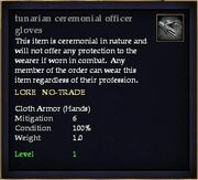 Tunarian ceremonial officer gloves