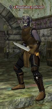 A Bloodsaber proficient (dark elf)