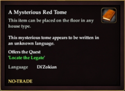A Mysterious Red Tome