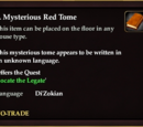 A Mysterious Red Tome (House Item)