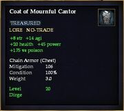Coat of Mournful Cantor