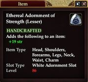 Ethereal Adornment of Strength (Lesser)
