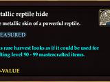 Metallic reptile hide