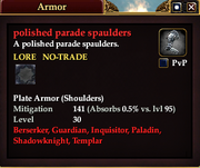 Polished parade spaulders