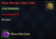Rune Recipe- Hate Gain