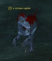 A vicious raptor