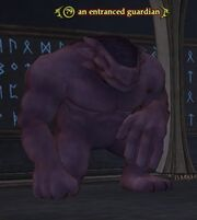An entranced guardian