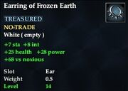 Earring of Frozen Earth