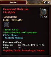 Hammered Black Iron Chestplate