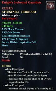 Knight's Irebound Gauntlets