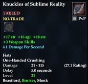 Knuckles of Sublime Reality