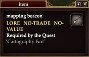 Mapping beacon