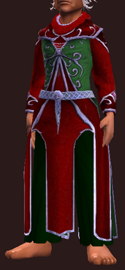 Red and Green Frostfell Robe (Equipped)