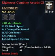 Righteous Combine Ascetic Gi