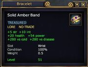 Solid amber band