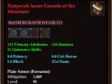 Tempered Azure Gussets of the Mountain
