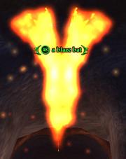 A blaze bat
