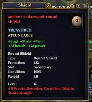 Ancient cedarwood buckler