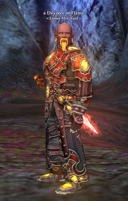 a Devotee of Flame < Ember Merchant > | EverQuest 2 Wiki