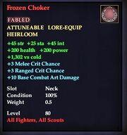 Frozen Choker