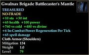 Gwalnax Brigade Battlecaster's Mantle