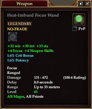 Heat-Imbued Focus Wand