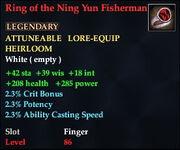 Ring of the Ning Yun Fisherman
