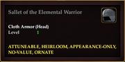 Sallet of the Elemental Warrior