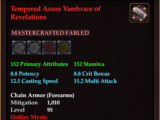 Tempered Azure Vambrace of Revelations