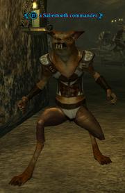 A Sabertooth commander