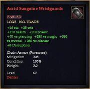 Acrid Sanguine Wristguards